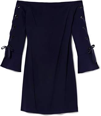 Vince Camuto Laced-sleeve Dress