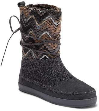 Toms Nepal Patterned Suede Boot