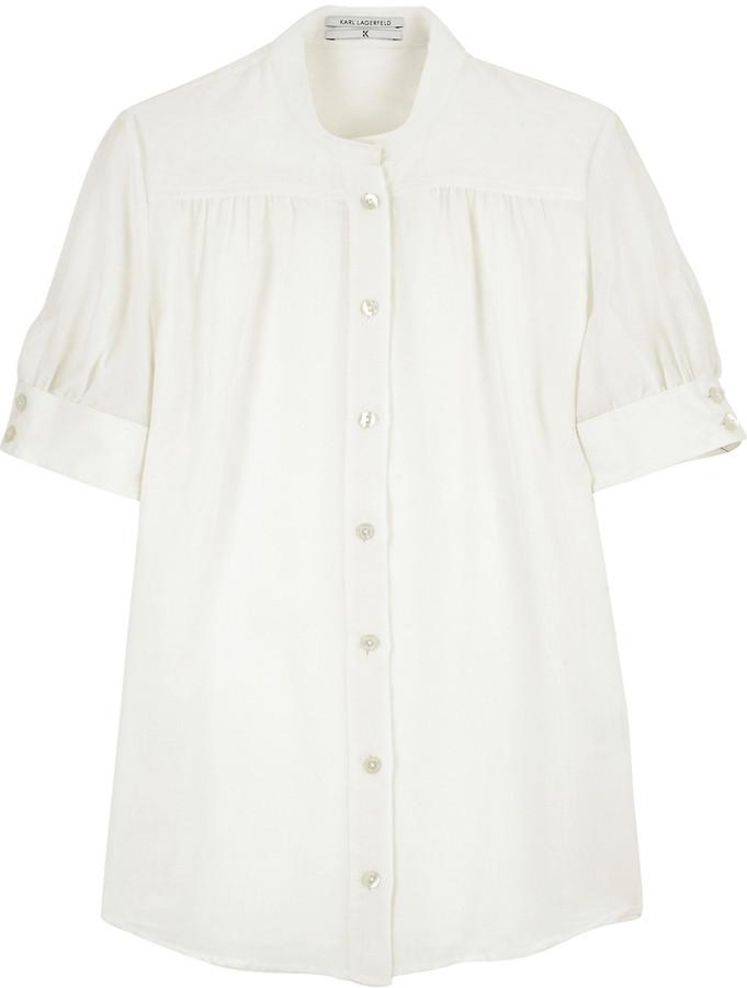 K Karl Lagerfeld Zoe gathered blouse