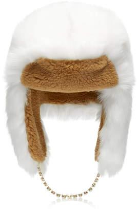 Federica Moretti Ecofur Alaska Crystal-Trimmed Hat