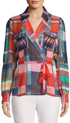 Diane von Furstenberg Multicoloured-Print Silk Blouse