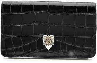 Alexander McQueen Embossed Patent Leather Clutch