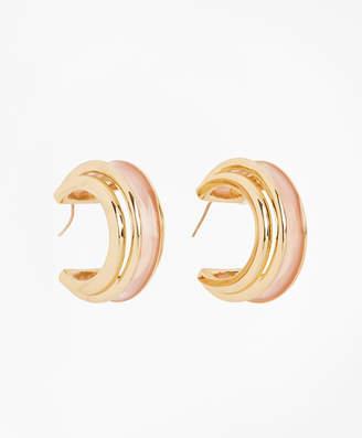 Brooks Brothers Plique-a-Jour Enamel Hoop Earrings