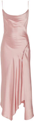 Jonathan Simkhai Asymmetric Satin Slip Dress Size: S