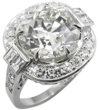 Platinum 5.44ct. Diamond Engagement Wedding Ring