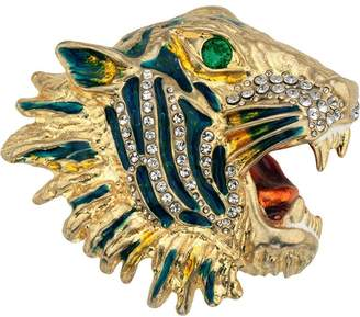Gucci Metal tiger head brooch