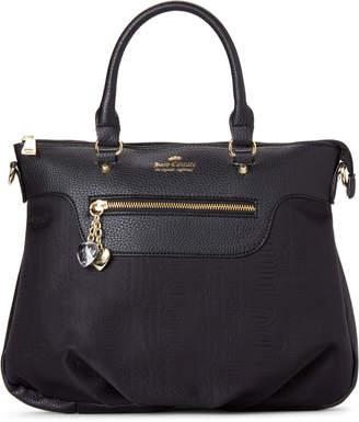 Juicy Couture Black Embossed Logo Satchel