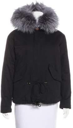 Poppy London Fur-Trimmed Parka Jacket