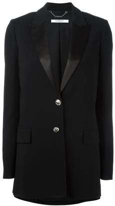 Givenchy peaked lapel long length blazer