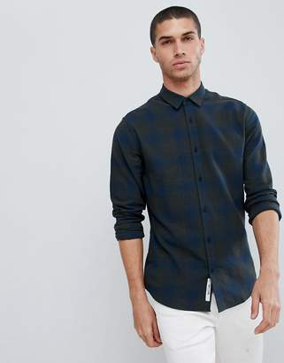 ONLY & SONS slim fit brushed check shirt