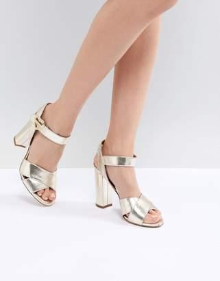 Love Moschino Heart Buckle Heeled Sandal