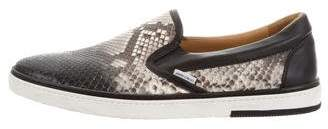 Jimmy Choo Snakeskin Slip-On Sneakers