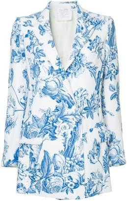 Oscar de la Renta floral toile georgette blazer