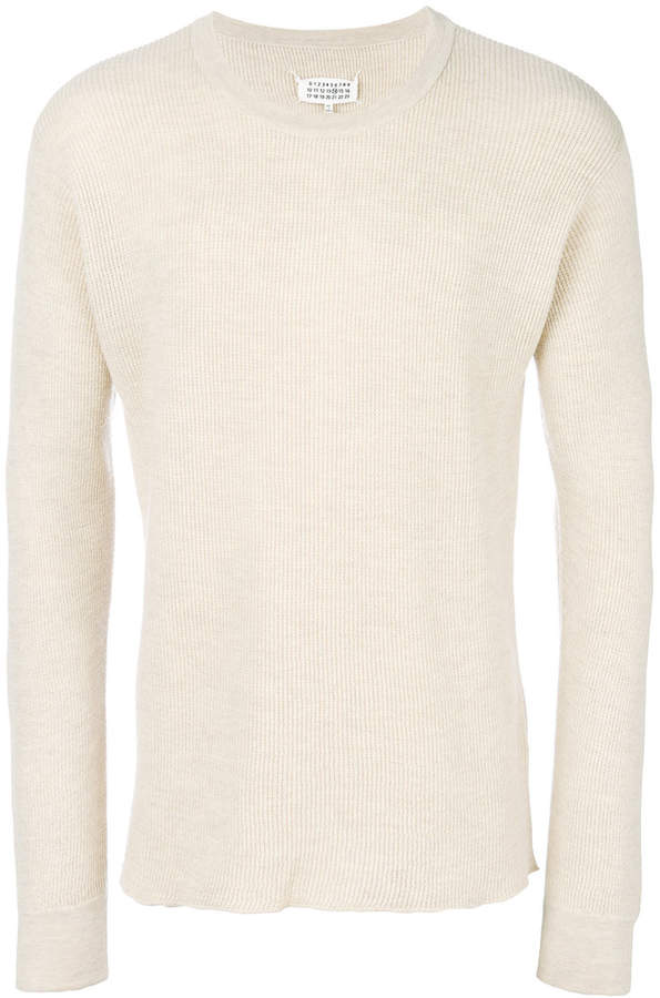 fitted long-sleeve sweater
