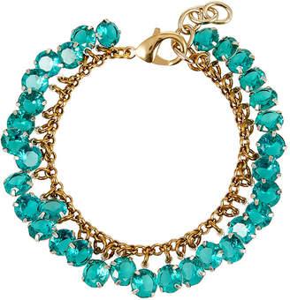 Lulu Frost Vaulted Crystal Cluster Bracelet, Green