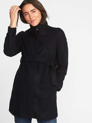 Old Navy Maternity Funnel-Neck Coat