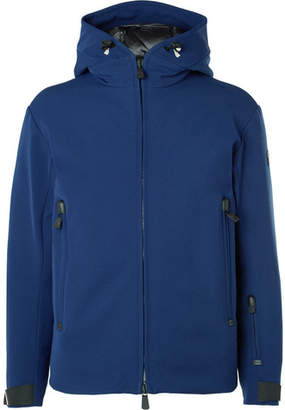 Moncler Praz Stretch-Twill Hooded Down Ski Jacket
