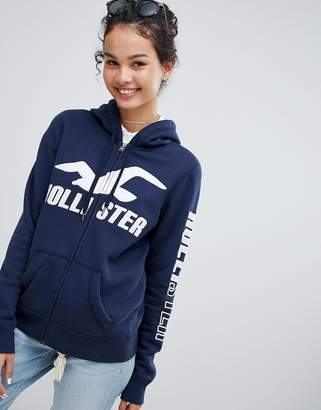 Hollister pullover hoodie with logo