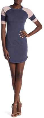 Planet Gold Short Sleeve Colorblock Dress