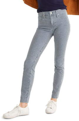 Madewell Piper Stripe Mid-Rise Skinny Jeans