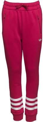 adidas Girls Trefoil 3 Stripe Cuffed Sweat Pants Unity Pink/White