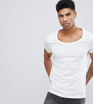 Asos Tall T-Shirt With Deep Scoop Neck In White