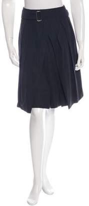 Dries Van Noten Belted Pleat Skirt