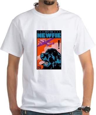 Obey CafePress The NEWFIE! Newfoundland T-Shirt - 100% Cotton T-Shirt