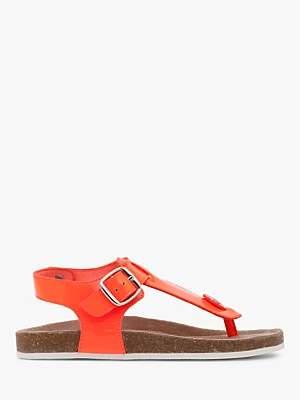 Boden Mini Children's Thong Sandals, Fluoro Coral