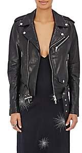 Amiri Women's Leather Moto Jacket-Black Size Xs