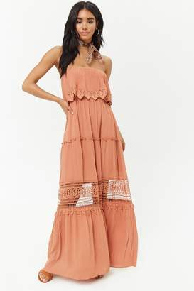Forever 21 Strapless Crochet Maxi Dress