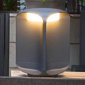 Bu-oh! - dunkelgraue LED-Sockellampe, IP65