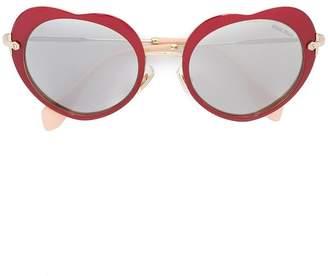 Miu Miu Noir heart sunglasses