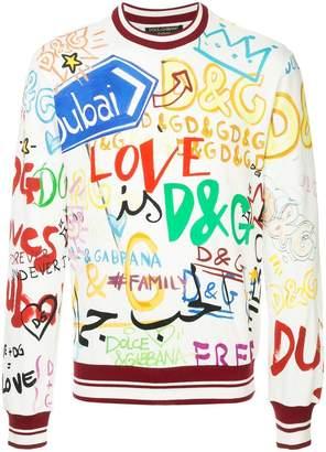 Dolce & Gabbana Dubai graffiti printed sweatshirt