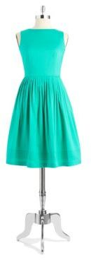 Anne Klein Pleated Fit and Flare Dress