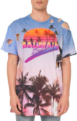 Balmain Men's Oversized Beach Club T-Shirt