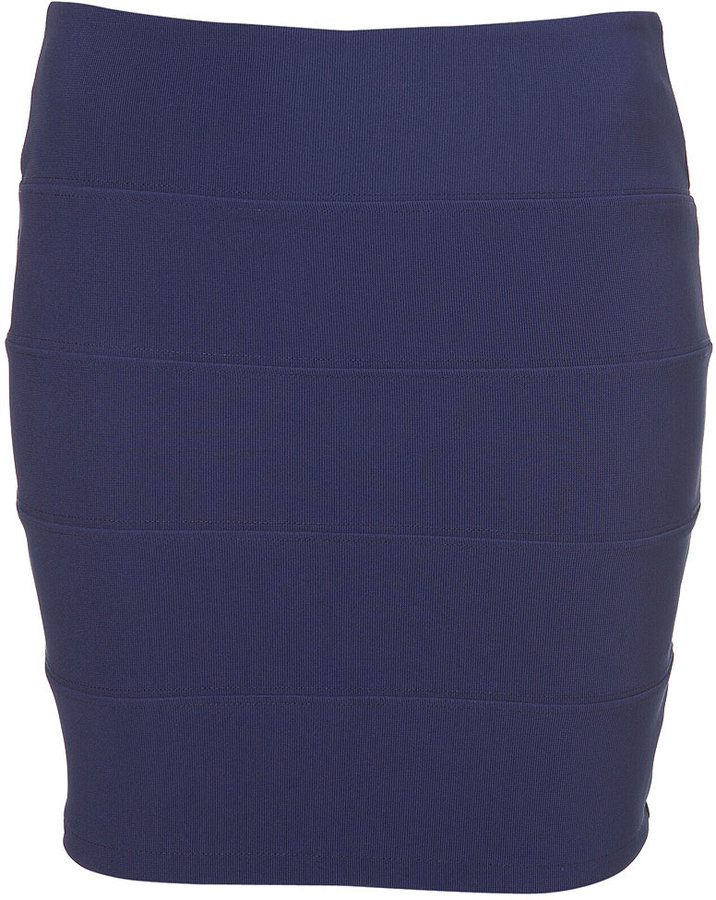 Panel Bodycon Mini Skirt