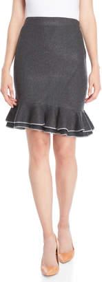 Vila Milano Flounce Mini Skirt