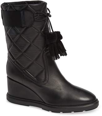 Aquatalia Caliana Weatherproof Genuine Shearling Lined Boot