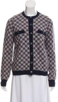 Chanel Patterned Cashmere Cardigan Navy Patterned Cashmere Cardigan