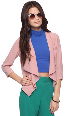 Forever 21 Waterfall Collar Jacket