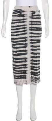 Raquel Allegra Mini Stripe Print Skirt