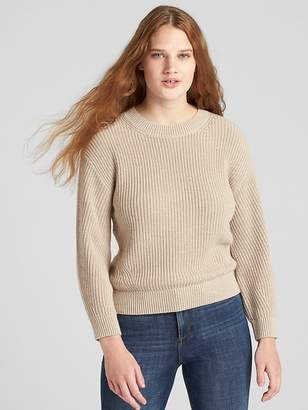 Gap Shaker Stitch Crewneck Pullover Sweater
