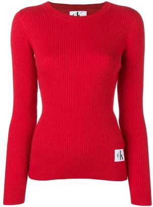 Calvin Klein Jeans ribbed knit sweater
