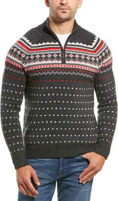 J.Crew 1/4-Zip Fairisle Wool-Blend Sweater