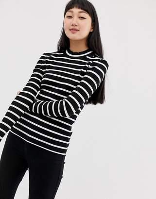 Only stripe rib top