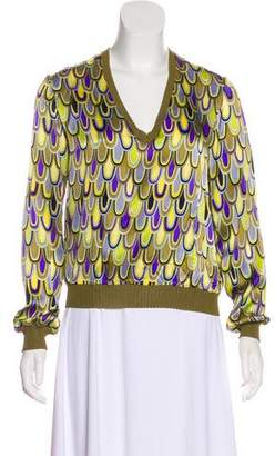 Missoni Silk Printed Top