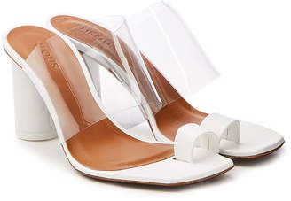 Neous Chost Transparent Sandals with Leather