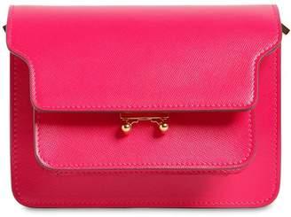 Marni Mini Trunk Saffiano Leather Shoulder Bag