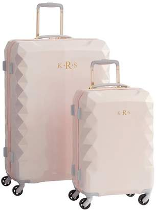 Pottery Barn Teen Luxe Hard-Sided Blush Luggage Bundle, Set of 2